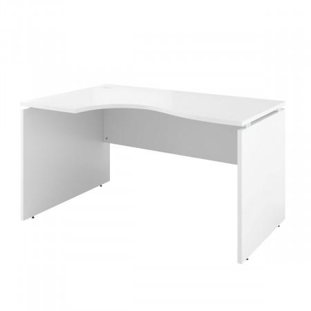 Стол криволинейный Дублин ДБ05.30, левый, 1400*900*750, белый