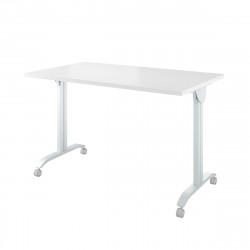 Стол письменный Дублин ДБ50.30, откидной, на колесах, на металлокаркасе, 1200*700*760, белый