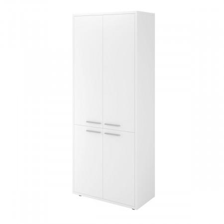 Шкаф высокий Дублин ДБ39.30, закрытый, 4 двери, 800*400*1980, белый, ДБ24+ДБ27*2+ДБ28*2