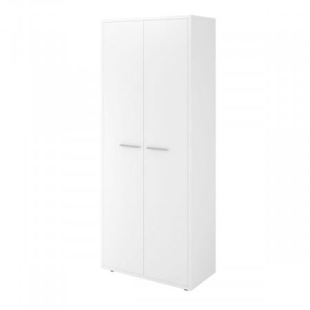 Шкаф высокий Дублин ДБ40.30, закрытый, 2 двери, 800*400*1980, белый, ДБ24+ДБ29*2