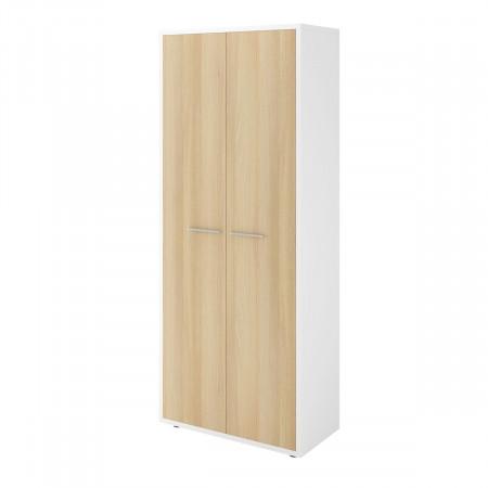 Шкаф для одежды Дублин ДБ26.32, 2 двери, 800*400*1980, белый/Акация лорка, ДБ26_1+ДБ29*2