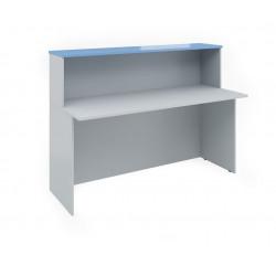 Ресепшен Эдем Э-24.4, стол, 1600*670*1160, платина синий