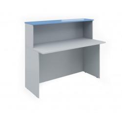 Ресепшен Эдем Э-22.4, стол, 1400*670*1160, платина синий