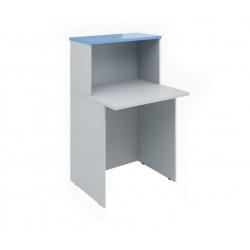 Ресепшен Эдем Э-30.4, стол, 700*670*1160, платина синий