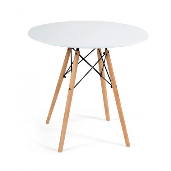 Стол CINDY NEXT  (mod.80-MDF) (металл/мдф, D80x75см, белый)