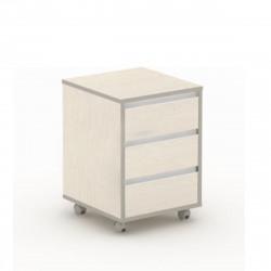 Тумба подкатная Vita V-3.0, 3 ящика, центральный замок, 426*450*600, сосна карелия