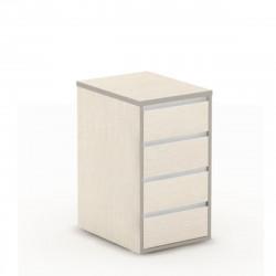 Тумба приставная Vita V-3.3, 4 ящика, центральный замок, 426*700*750, сосна карелия