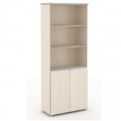 Шкаф высокий Vita, 3 открытые полки, 2 двери, 777*387*1980, сосна карелия