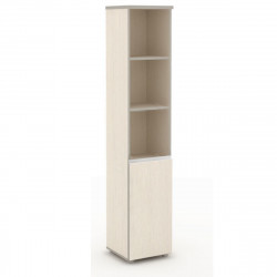 Шкаф высокий Vita, узкий, 3 открытые полки, 1 дверь, 391*387*1980, сосна карелия
