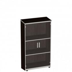 Шкаф средний Vita, закрытый, со стеклом, 2 двери, 777*387*1205, сосна ларедо