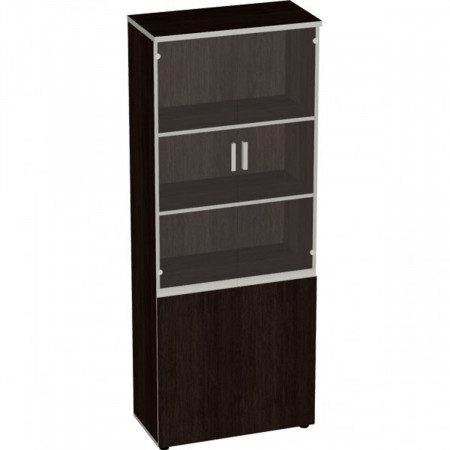 Шкаф высокий Vita, закрытый, со стеклом, 4 двери, 777*387*1980, сосна ларедо
