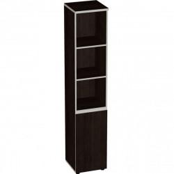 Шкаф высокий Vita, узкий, 3 открытые полки, 1 дверь, 391*387*1980, сосна ларедо