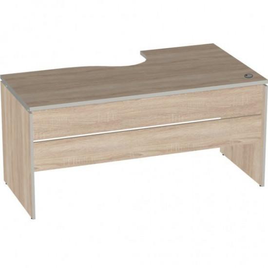 Стол эргономичный Vita V-1.6, правый 7, 1600/550*900/700*750, дуб сонома