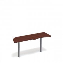Стол приставной Форум ФР-2.4Н, левый, 1577*544*750, орех артемида
