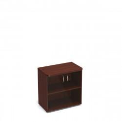 Шкаф низкий Статус, закрытый, со стеклом, с топом, 2 двери, 800*483*801, орех артемида