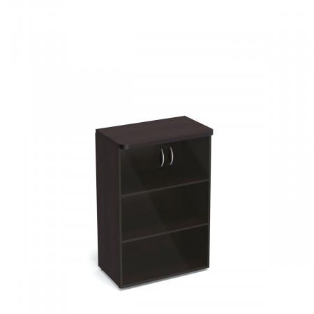 Шкаф средний Статус, закрытый, со стеклом, с топом, 2 двери, 800*483*1177, венге новый