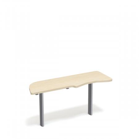 Стол приставной Форум ФР-2.4, левый, 1577*544*750, дуб молочный