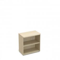 Шкаф низкий Статус, закрытый, со стеклом с топом, 2 двери, 800*483*801, дуб молочный