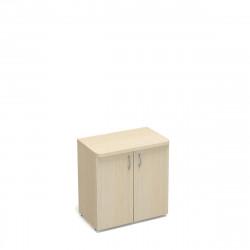 Шкаф низкий Статус, закрытый, с топом, 2 двери, 800*483*801, дуб молочный