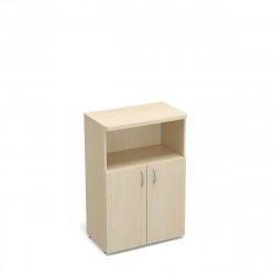 Шкаф средний 1 открытая полка Статус, 2 двери, с топом, 800*483*1177, дуб молочный