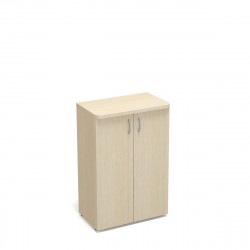 Шкаф средний Статус, закрытый, с топом, 2 двери, 800*483*1177, дуб молочный