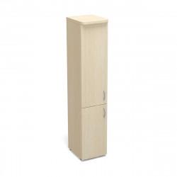 Шкаф высокий Статус, узкий, закрытый, с топом, 2 двери, 400*483*1945, дуб молочный