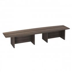 Стол для переговоров Вектор КВ26.26, составной, 4200*1000*780, Честерфилд темный новый
