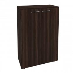 Шкаф средний Вектор КВ205.26, закрытый, 2 двери, 818*400*1250, Честерфилд темный новый, КВ86+КВ70