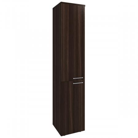 Шкаф высокий Вектор КВ207.26, узкий, закрытый, 2 двери, 410*400*2052, Честерфилд темный новый, КВ88+КВ92+КВ93+ФД07*2