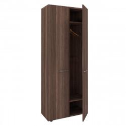 Шкаф для одежды Вектор КВ67.26, 2 двери, 818*400*2052, Честерфилд темный новый