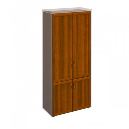 Шкаф высокий Мастер 318, закрытый, 4 двери, 900*450*2080, орех темный