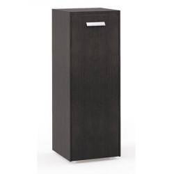 Шкаф средний Бонд, узкий, закрытый, 1 дверь, топ, панели, 440*440*1244, дуб венге-бежевый