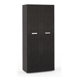 Шкаф высокий Бонд, закрытый, 2 двери, топ, панели, 880*440*2048, дуб венге-бежевый