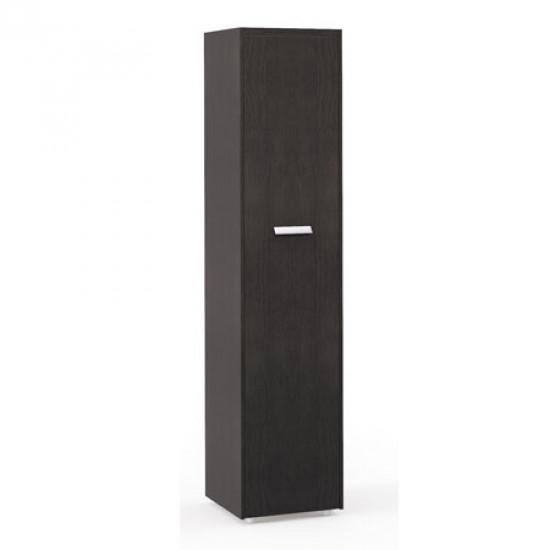 Шкаф высокий Бонд, узкий, закрытый, 1 дверь, топ, панели, 440*440*2048, дуб венге-бежевый