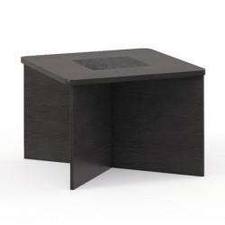 Стол журнальный Vegas V-01, 700*700*500, дуб венге, кожа темно-коричневая