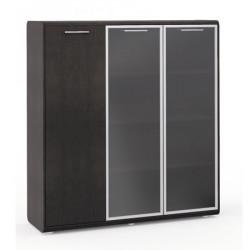 Шкаф комбинированный  Vegas, левый, 3 двери, 1548*460*1648, дуб венге
