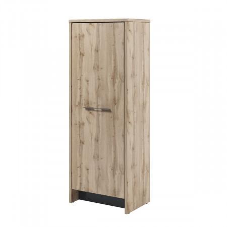 Стеллаж Торстон Т-31-11, 1 секция, закрытый, 1 дверь, 788*520*2120, Дуб Вотан-Антрацит