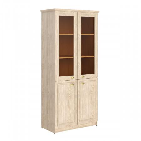 Шкаф высокий Raut RHC 89.2, закрытый, со стеклом, 4 двери, 922*466*2023, Дуб Девон