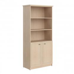 Шкаф высокий Raut RHC 89.5, 3 открытые полки, 2 двери, 922*466*2023, Бук Тиара