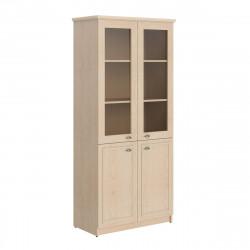 Шкаф высокий Raut RHC 89.2, закрытый, со стеклом, 4 двери, 922*466*2023, Бук Тиара