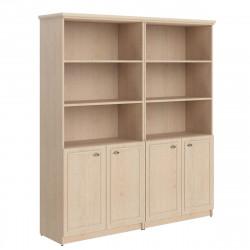 Шкаф высокий Raut RHC 180.5, 3 открытые полки, комбинированный, под 1 топом, 4 двери, 1808*466*2023, Бук Тиара