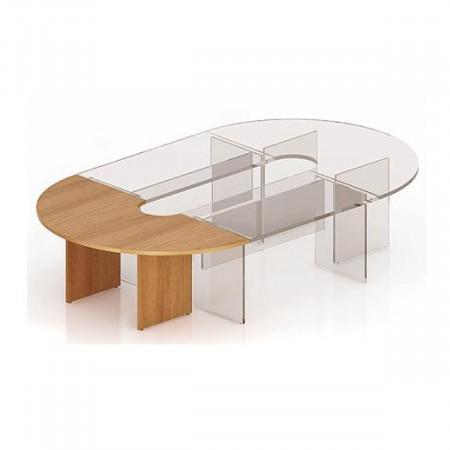 Элемент составного стола Эталон КЭ13.3, закругленный, 2000*1000*750, орех гварнери