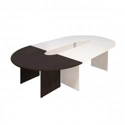 Элемент составного стола Эталон КЭ13.14, закругленный, 2000*1000*750, венге