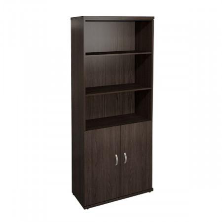 Шкаф высокий Эталон КЭ59.14, 3 открытые полки, 2 двери, 854*424*2066, венге