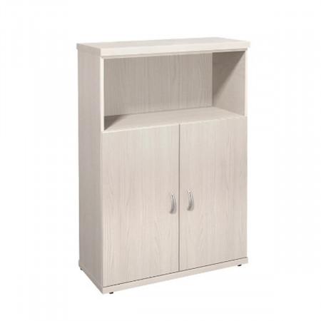 Шкаф средний Эталон КЭ51.15, 1 открытая полка, 2 двери, 854*424*1310, дуб молочный