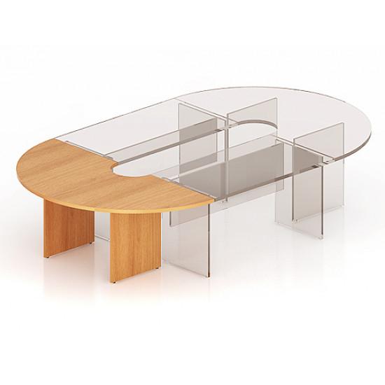 Элемент составного стола Эталон КЭ13.1, закругленный, 2000*1000*750, бук бавария