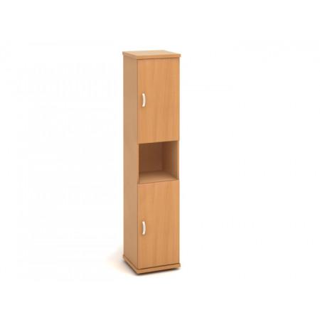 Шкаф высокий Эталон КЭ64.1, узкий, 1 открытая полка, 2 двери, 427*424*2066, бук бавария