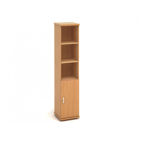 Шкаф высокий Эталон КЭ65.1, узкий, 3 открытые полки, 1 дверь, 427*424*2066, бук бавария