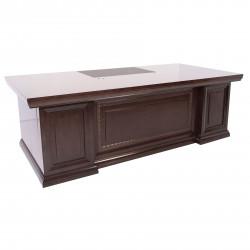 Стол руководителя Толедо 24336, 2 тумбы в комплекте, Fiorenzo, 2400*1050*760, шпон орех