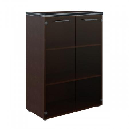Шкаф средний Torr ТМС85.2, закрытый, со стеклом, 2 двери, 856*450*1203, Венге Магия, ТМС85+TMGТ42-1+TMGT42-F+TP85